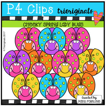 P4 CHEEKY Spring Ladybugs (P4 Clips Trioriginals Clip Art)