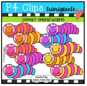 P4 CHEEKY Spring Worms (P4 Clips Trioriginals Clip Art)