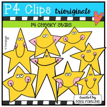 P4 CHEEKY Stars (P4 Clips Triorignals Clip Art)