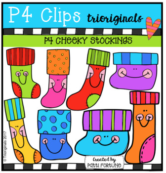 P4 CHEEKY Stockings (P4 Clips Trioriginals Clip Art)
