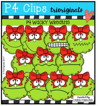 P4 wacky Wreaths (P4 Clips Trioriginals Clip Art)