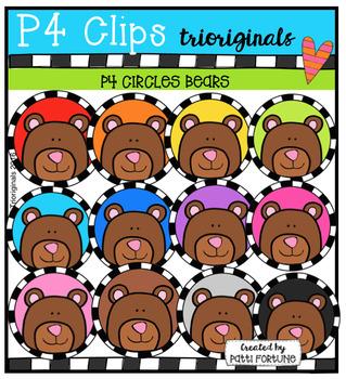 P4 CIRCLES Bears (P4 Clips Trioriginals Digital Clip Art)