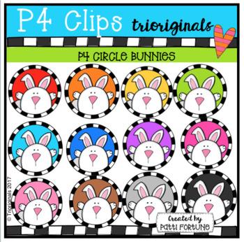 P4 CIRCLES Bunnies (P4 Clips Trioriginals Clip Art)