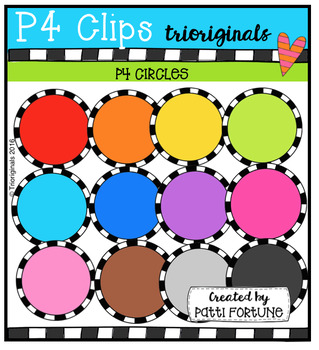 P4 CIRCLES Color (P4 Clips Trioriginals Digital Clip Art)