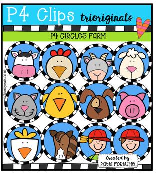 P4 CIRCLES Farm (P4 Clips Trioriginals Digital Clip Art)