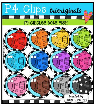 P4 CIRCLES Fish (P4 Clips Trioriginals Digital Clip Art)