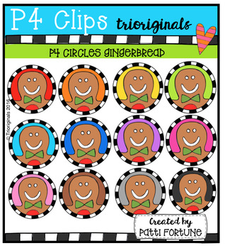 P4 CIRCLES Gingerbread (P4 Clips Trioriginals Digital Clip Art)