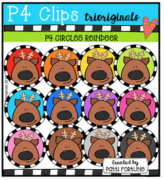 P4 CIRCLES Reindeer (P4 Clips Trioriginals Digital Clip Art)