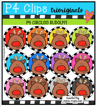 P4 CIRCLES Rudolph (P4 Clips Trioriginals Digital Clip Art)