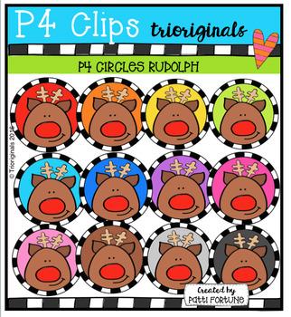 P4 CIRCLES Rudolph (P4 Clips Trioriginals Digital Clip Art)