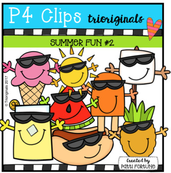 P4 COOL SHADES Summer Fun (P4 Clips Trioriginals Clip Art)