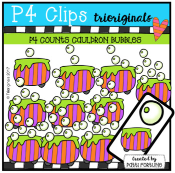 P4 COUNTS 1-10 Cauldron Bubbles (P4 Clip Trioriginals Clip Art)