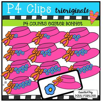 P4 COUNTS 1-10  Easter Bonnets (P4 Clips Trioriginals Clip Art)