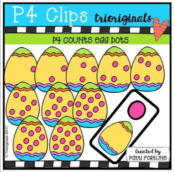 P4 COUNTS 1-10 Egg Dots (P4 Clips Trioriginals Clip Art)
