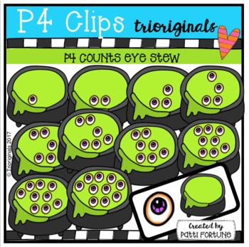 P4 COUNTS 1-10 Eyeball Stew (P4 Clips Trioriginals Clip Art)