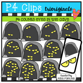 P4 COUNTS 1-10 Eyes in the Cave (P4 Clips Trioriginals Clip Art)