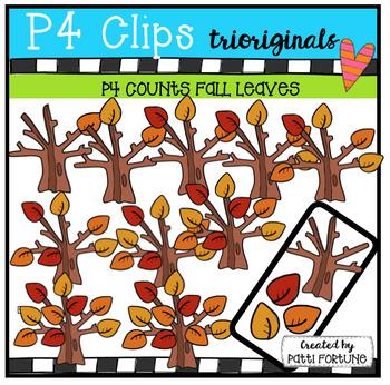 P4 COUNTS 1-10 Fall Leaves (P4 Clips Trioriginals Clip Art)