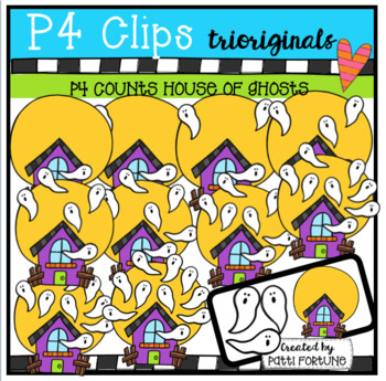 P4 COUNTS 1-10 Ghosts in the House (P4 Clips Trioriginals Clip Art)