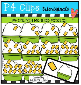P4 COUNTS 1-10 Mashed Potatos (P4 Clips Triorignals Clip Art)