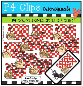 P4 COUNTS Ants at the Picnic (P4 Clips Trioriginals Clip Art)