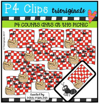 P4 COUNTS Ants at the Picnic (P4 Clips Trioriginals Clip Art)