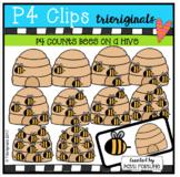 P4 COUNTS Bees on a Hive (P4 Clips Trioriginals Clip Art)