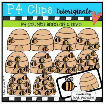 (50% OFF) P4 COUNTS Bees on a Hive (P4 Clips Trioriginals