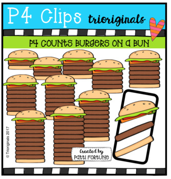 P4 COUNTS 1-10 Burgers (P4 Clips Triorginals Clip Art)