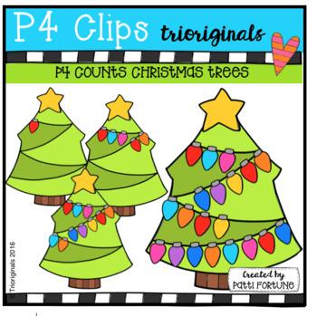 P4 COUNTS Christmas Tree Lights (P4 Clips Triorignals Clip Art)