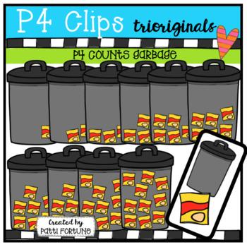 P4 COUNTS Garbage (P4 Clips Trioriginals Clip Art)