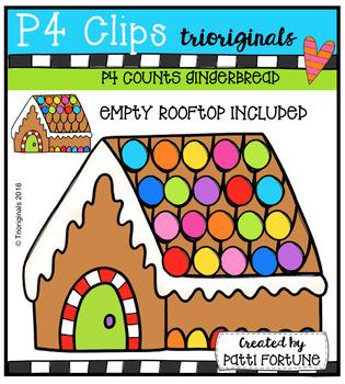 P4 COUNTS Gingerbread House (P4 Clips Trioriginals Digital Clip Art)