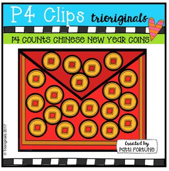 P4 COUNTS Gold Coins (P4 Clips Trioriginals Clip Art)
