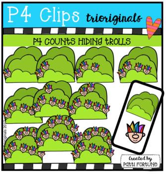 P4 COUNTS Hiding Trolls (P4 Clips Trioriginals Clip Art)