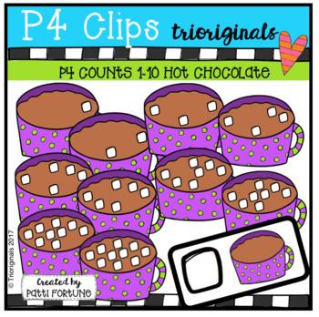 P4 COUNTS Hot Chocolate (P4 Clips Trioriginals Clip Art)