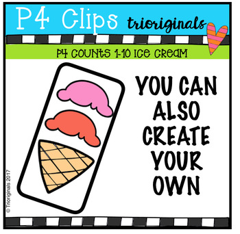 (50% OFF) P4 COUNTS Ice Cream Treats (P4 Clips Trioriginals Clip Art)