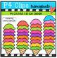 P4 COUNTS Ice Cream Treats (P4 Clips Trioriginals Clip Art)
