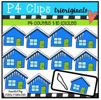 P4 COUNTS Icicles (P4 Clips Trioriginals Clip Art)