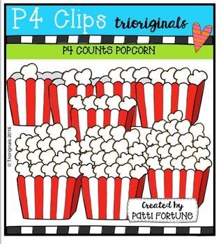 P4 COUNTS Popcorn {P4 Clips Trioriginals Digital Clip Art}