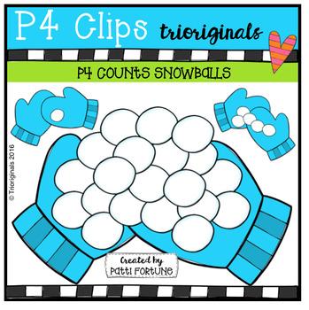 P4 COUNTS Snowballs (P4 Clips Trioriginals Digital Clip Art)