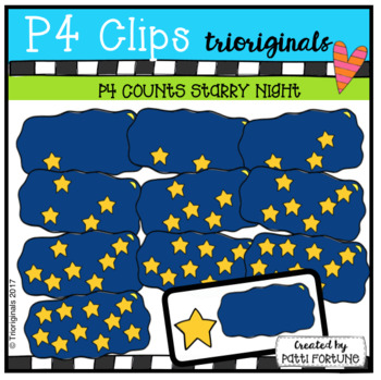 (50% OFF) P4 COUNTS Stars in the Sky (P4 Clips Trioriginals Clip Art)