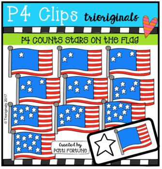 P4 COUNTS Stars on the Flag (P4 Clips Trioriginals Clip Art)