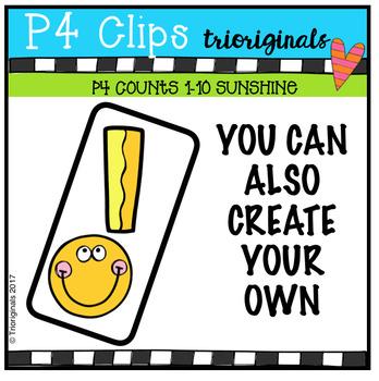 P4 COUNTS Sunshine Rays (P4 Clips Trioriginals Clip Art)