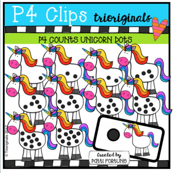 P4 COUNTS Unicorns (P4 Clips Trioriginals Clip Art)