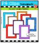 P4 COZY Bears Frames (P4 Clips Trioriginals Digital Clip Art)