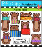 P4 COZY Bears (P4 Clips Trioriginals Digital Clip Art)