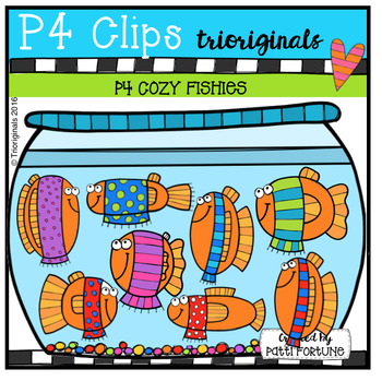 P4 COZY Fishies (P4 Clips Trioriginals Digital Clip Art)