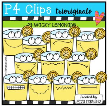 P4 WACKY Lemonade (P4 Clips Trioriginals Clip Art)