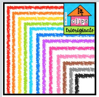 P4 Crayon Like Borders (P4 Clips Triorginals Clip Art)