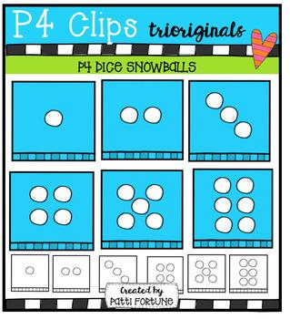 P4 DICE Snowballs/Mittens (P4 Clips Trioriginals Digital Clip Art)