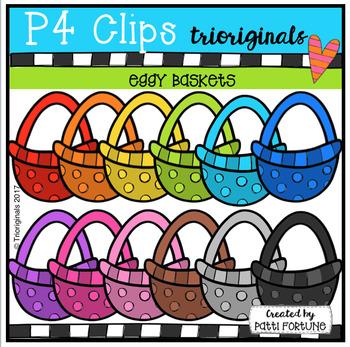 P4 EGGY Easter Baskets (P4 Clips Trioriginals Clip Art)